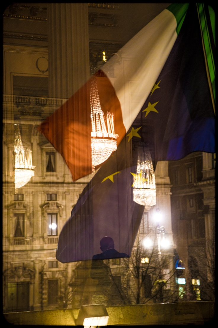 Opening Night 2012/2013 Season - Lohengrin - Palazzo Marino and Piazza della Scala square seen from the Arturo Toscanini Foyer