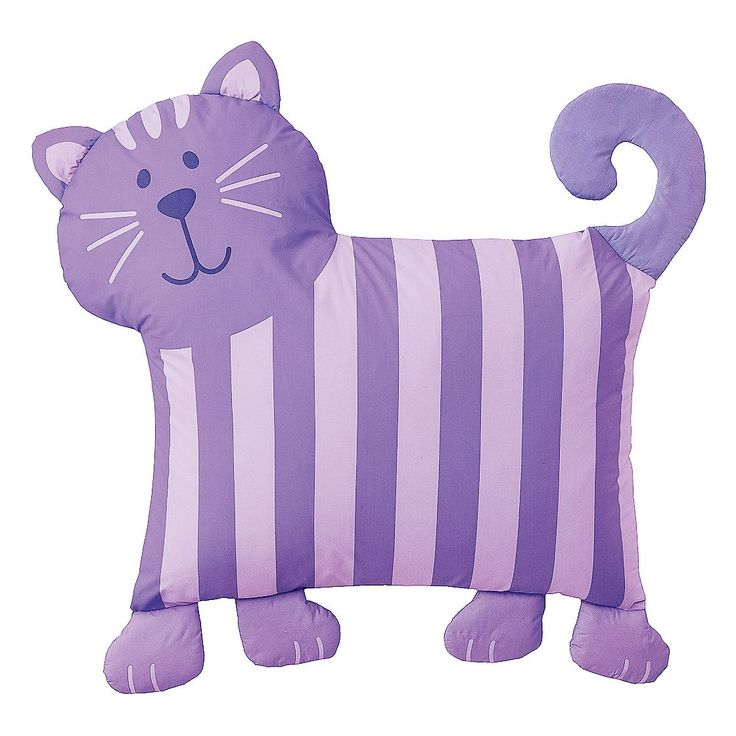This cute kitty pillowcase will add a soft and fun touch to any room!