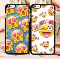 Wish | Supersale-2015 New Arrive Funny Cute Emoji Love Pair Hard Skin Cell Phone Cases for Iphone 6 6 Plus 5 5s 5c 4 4s Covr Cases -N2