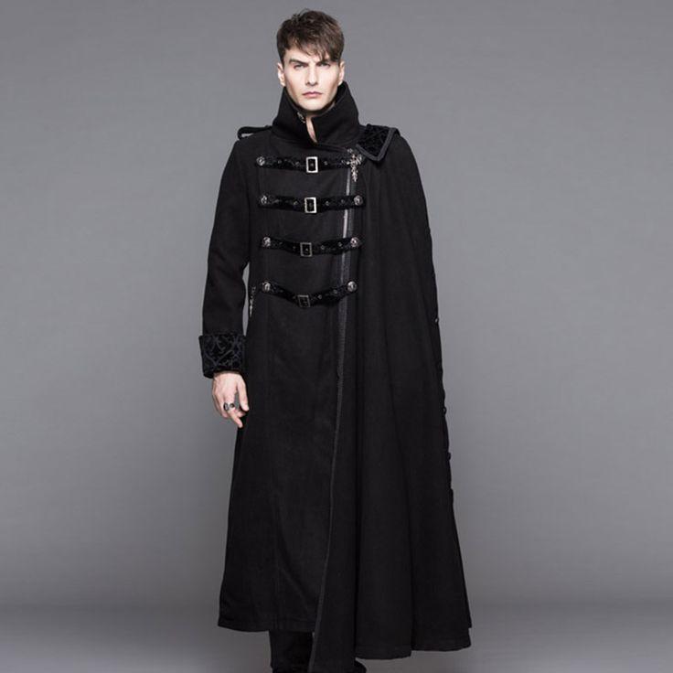 安い悪魔ファッションスチームパンク高襟黒ロングトレンチコートの男性ゴシック厚いオーバーコートで取り外し可能なケープ冬着て、購入品質ウール&ブレンド、直接中国のサプライヤーから:悪魔ファッションスチームパンク高襟黒ロングトレンチコートの男性ゴシック厚いオーバーコートで取り外し可能なケープ冬着て