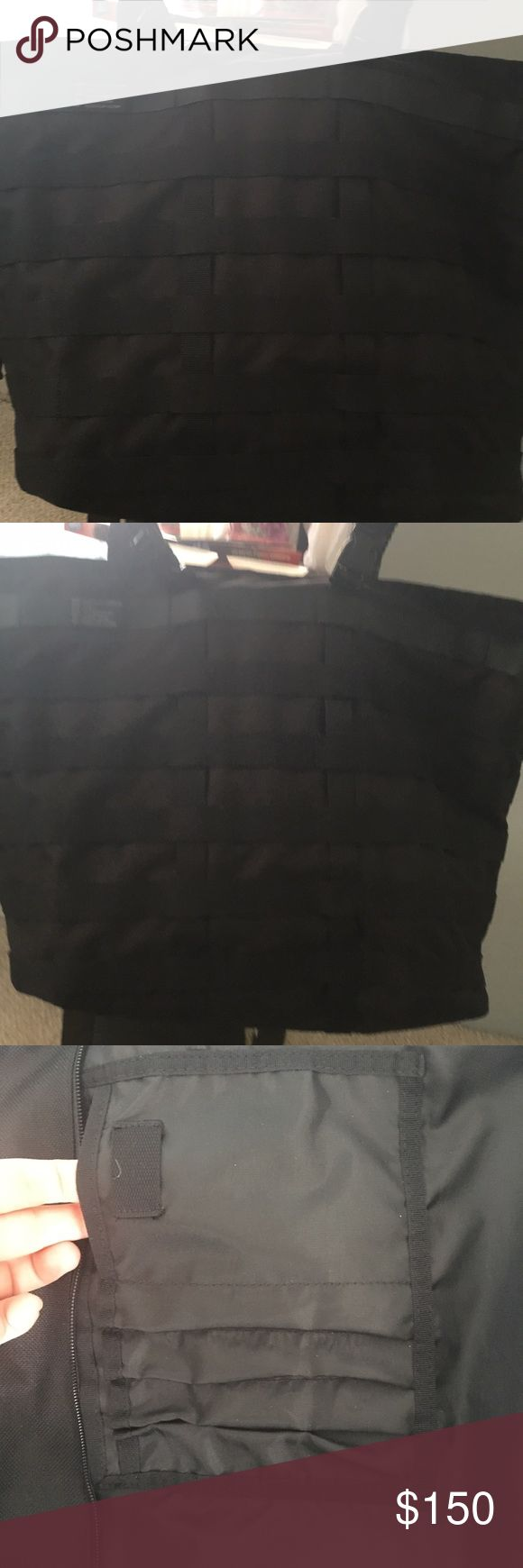 Nike tote bag Black material tote bag .New without tag Nike Bags Totes