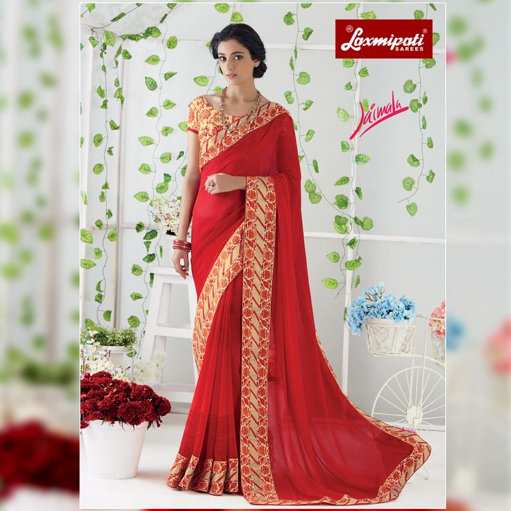 Impress all with your amazing traditional look by draping this Red Georgette Saree that earn you loads of plaudits from onlookers. Includes matching blouse fabric. #Catalogue #JAIMALA #DesignNumber: 4474 #Price - ₹1917.00 Visit for more #designs @ www.laxmipati.com/Catalogue/JAIMALA #Bridal #ReadyToWear #Wedding #Apparel #Art #Autumn #Black #Border #MakeInIndia #CasualSarees #Clothing #ColoursOfIndia #Couture #Designer #Designersarees #Dress #Dubaifashion #Ecommerce #EpicLove #Ethnic…