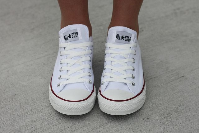 i love my white chucks! Best purchase for summer ever