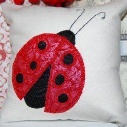 Ladybug Applique Cushion. Free Applique PatternsBaby ... & 138 best Free Applique Designs images on Pinterest   Quilt ... pillowsntoast.com