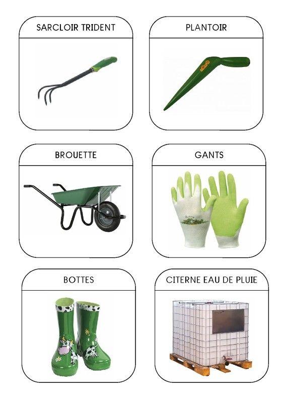 Imagier / Maternelle grande section et CP : le jardin - les outils 2. Enrichissement du vocabulaire.