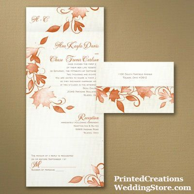 Delicieux A Textured Background And Falling Leaves In Your Choice Of Colors Make This  Seal U0027n Send Wedding Invitation The ...
