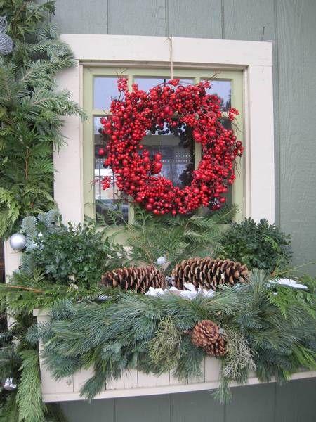 Christmas window box.