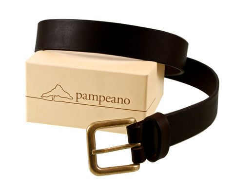 Pampeano Plain Leather belts, quality and classic style.