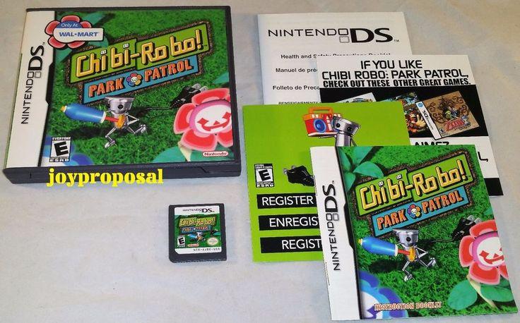 Chibi Robo Park Patrol (Nintendo DS) Lite DSi XL 3DS 2DS Strategy Comic Mischief
