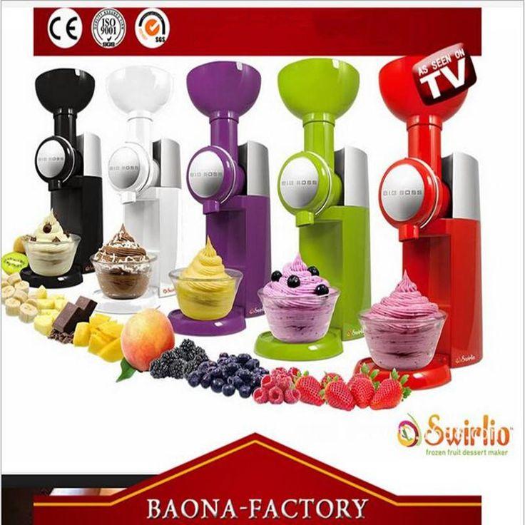 Big Boss Swirlio Automatic Frozen Fruit Dessert Machine Fruit Ice Cream Maker Milkshake Machine With EU Plug