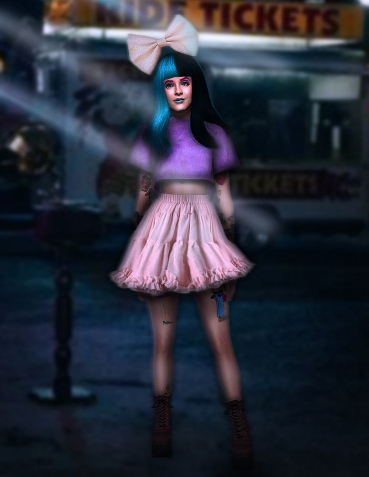 "candyforniasmoonlight: ""Melanie Martinez - Carousel Dress ( REAL LOOK ) • Conversion: TS3 to TS4 • All Credits and Original mesh @renansims​ DOWNLOAD If you use, please tag #candyforniasmoonlight or..."
