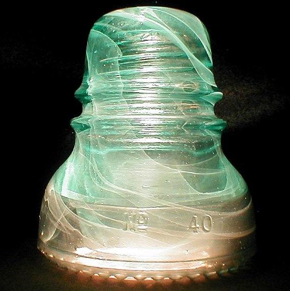 Hemingray No 40 antique glass insulator: Insulators Glass Cool, Antique Glass, Antique Insulators, Hemingray Insulators, Vintage Insulators, Vintage Glass, Depression Glass, Mason Jars, Glass Insulators