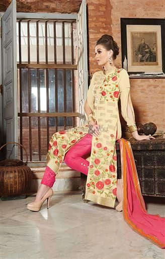 Simple pakistani salwar suit patterns with parallel shape #style kameez #beautiful #pakistanisuit #salwarkameez