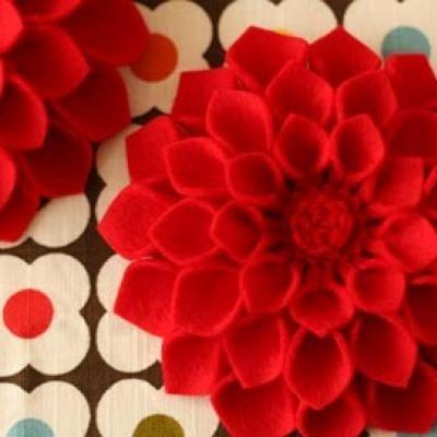 69 Best Felt Flower Tutorial Images On Pinterest Fabric