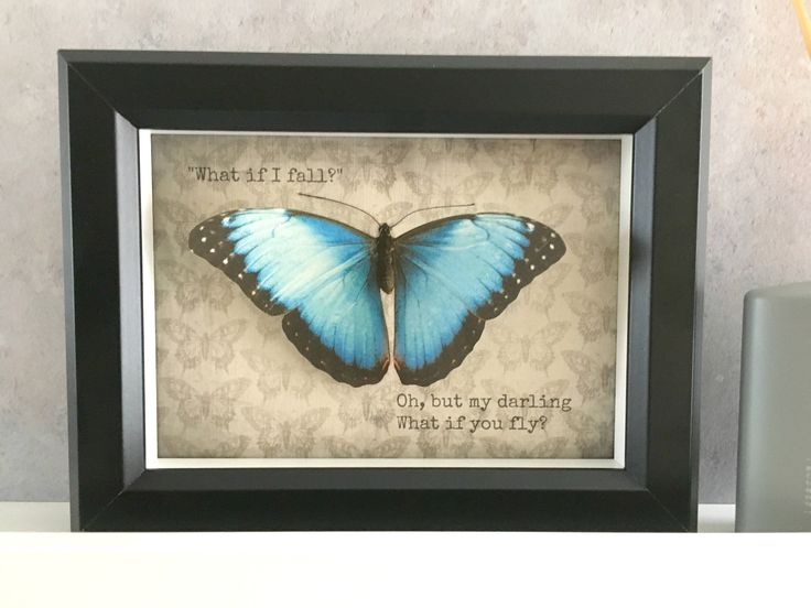 Excited to share the latest addition to my #etsy shop: Blue Silk butterfly frame. Beautiful hand cut/handmade from silk, cruelty free specimen!