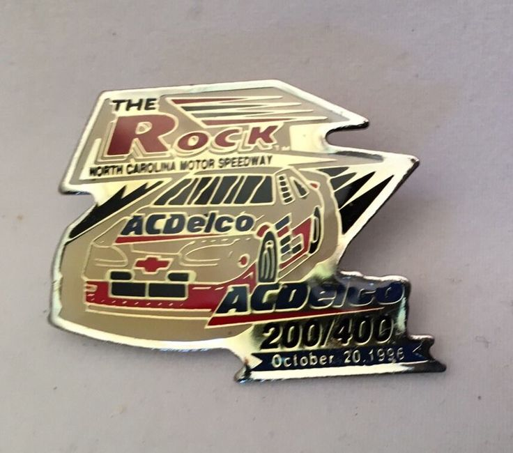 NASCAR collectible PIN The Rock AC Delco 200/400 October 20, 1996 NC Speedway  | eBay