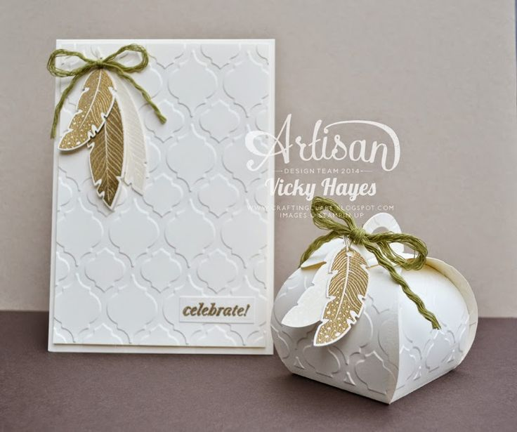 Stampin' Up ideas and supplies from Vicky at Crafting Clare's Paper Moments: A special gift set using Four Feathers from Stampin' Up