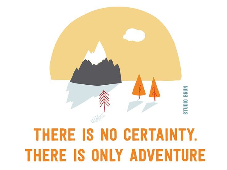 Hello adventurer - Certainty