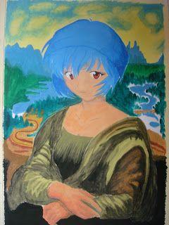 Rei Ayanami em Mona Lisa Já fiz vários desenhos com essa personagem, ela é minha personagem favorita na hora de desenhar, pois bem, esta...