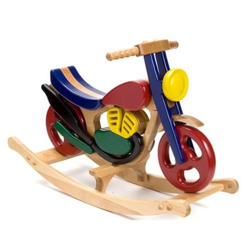 This beautiful Wooden 'Mirage' Rocking Bike by British brand, Hibba, is simply…