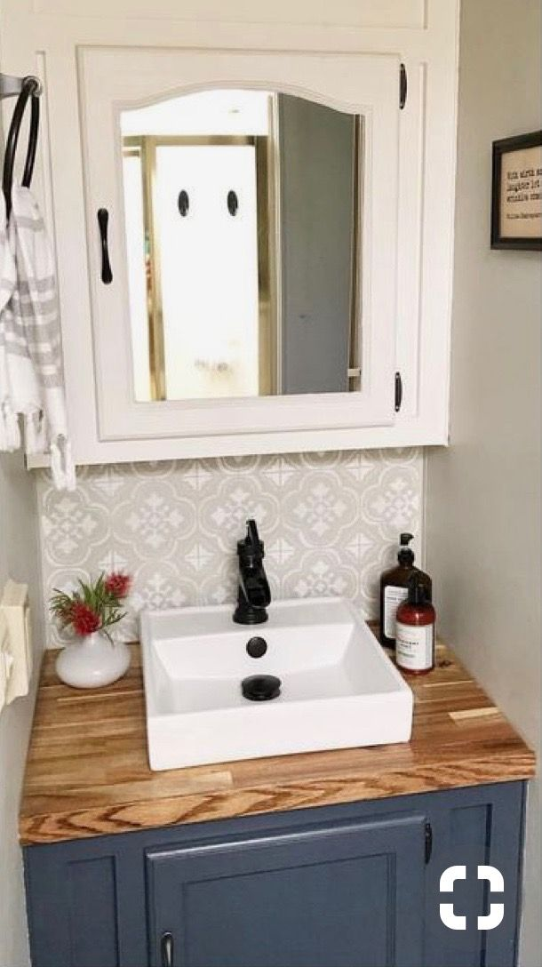 Love The Above Counter Sink With Wood With Images Bathroom