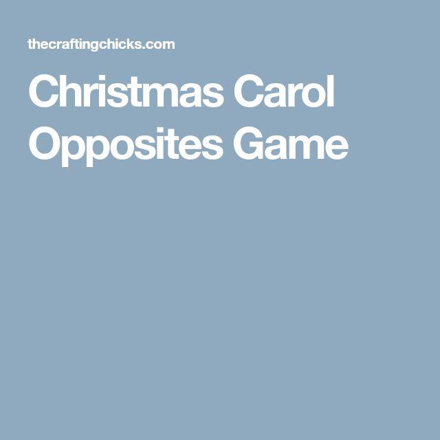 Christmas Carol Opposites Game
