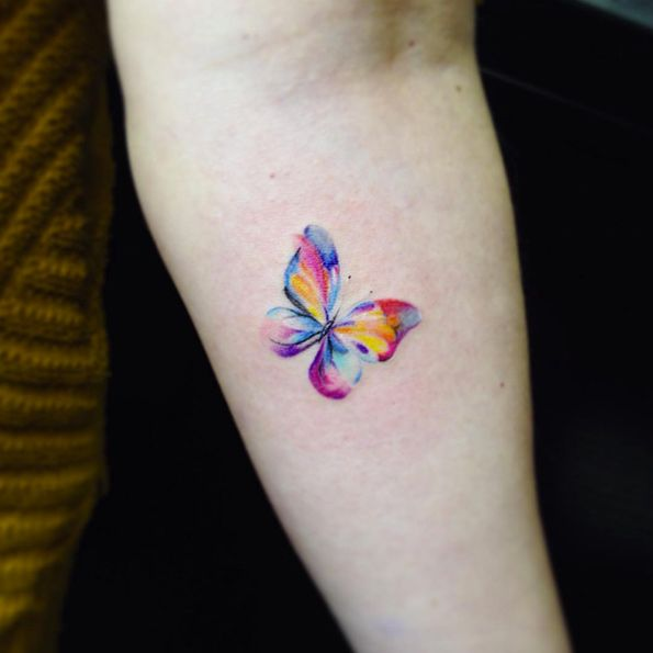 Watercolor butterfly by Pelaez