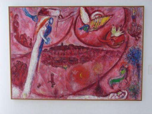 Ницца,  две картины Марка Шагала из музея в Ницце.