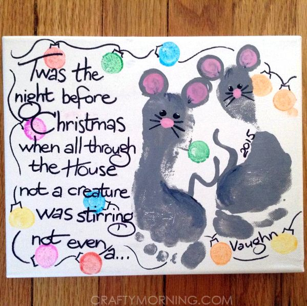 If you're looking for a Christmas canvas keepsake idea, you need to make this footprint mouse one! I first saw it on Pinterest by someone who uploaded it (no original source) and then by Toni Kelly who did it with her grandson. All you need is paint, a black sharpie, a white canvas, and a …