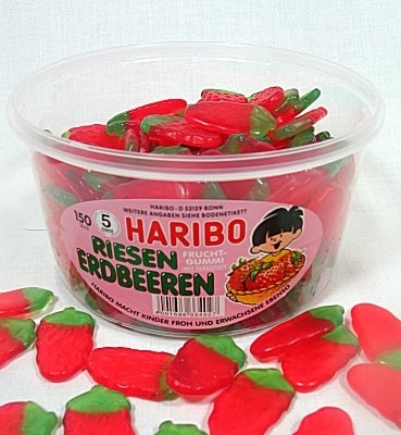 Haribo Riesen Erdbeeren Tub, (Strawberries)    Oh I SO missed these!Gummy Candies, Erdbeeren Tubs, Haribo Gummy, Strawberries Gummy, Haribo Riesen, Adult Food, Food Memories, Gummy Tubs