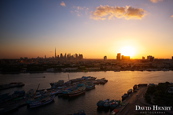 Sunset over Dubai. David Henry Photography