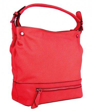 Velká kabelka na rameno TH2032 červená - Kliknutím zobrazíte detail obrázku.