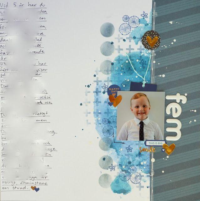 Sara Kronqvist - Saras pysselblogg: fem   Scrapbook layout