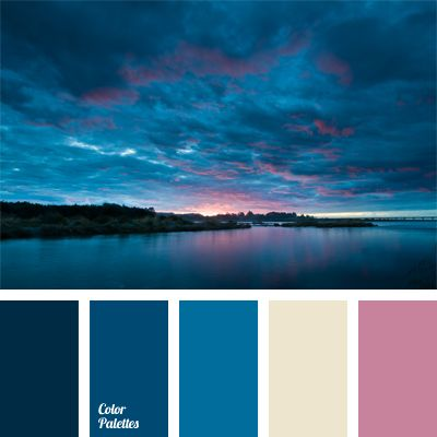 Imagine the view of the sky before sunset over the sea. This incredible play of colors, unusual mix of pale pink, dark blue, blue colors. It is an original solution for decoration of ceilings in the hotel type rooms.