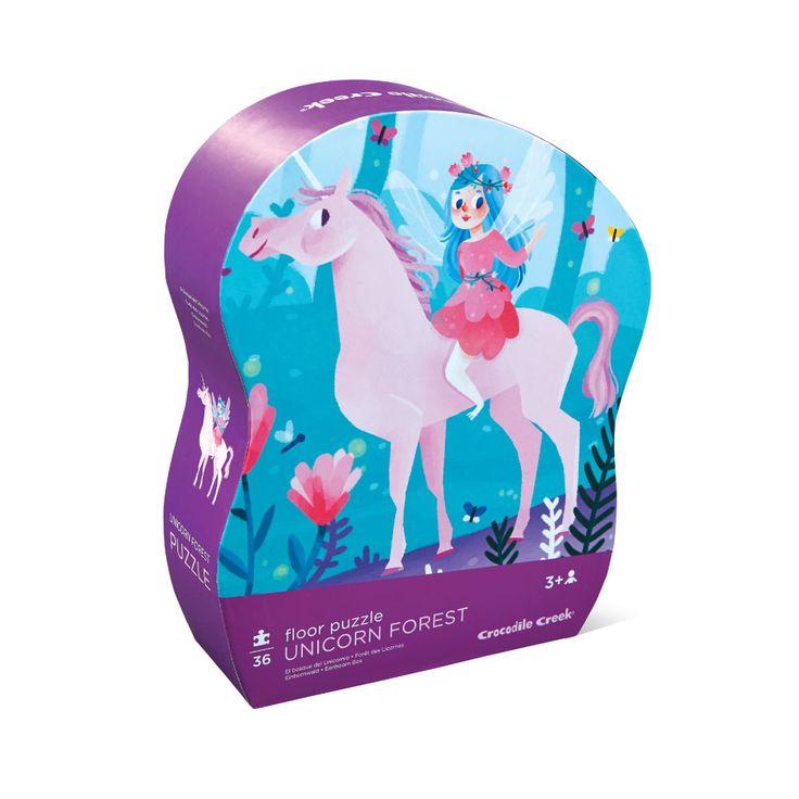 Shaped Box Floor Puzzle - Unicorn Forest - 36 piece