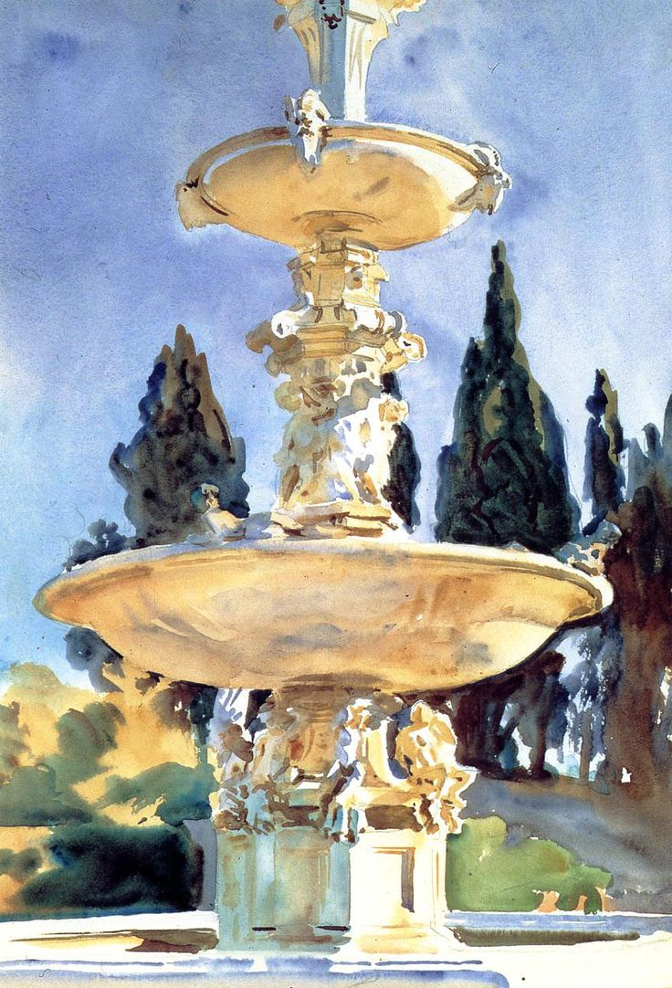 john singer sargent watercolors-one of my favorite artists-especially his watercolors.