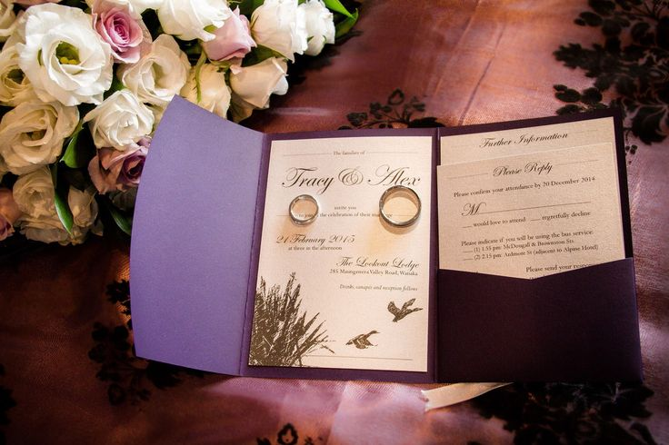 Wedding themes for a rustic country wedding - http://www.southernbride.co.nz/wedding-themes-for-a-rustic-country-style-wedding/ - duck hunting wedding invitation