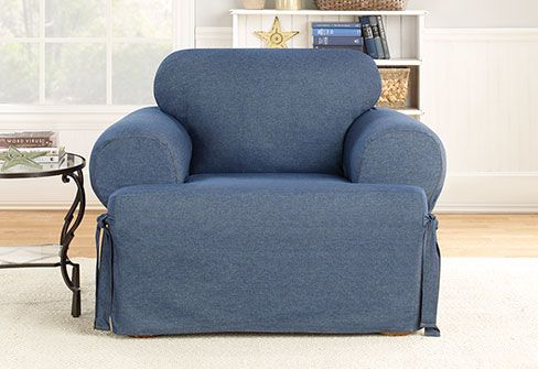 Best Denim One Piece T Cushion Slipcover Slipcovers For 400 x 300