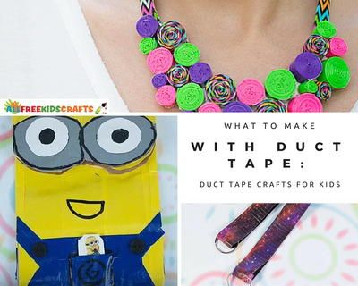 What to Make with Duct Tape: 80 Easy Duct Tape Crafts for Kids | AllFreeKidsCrafts.com