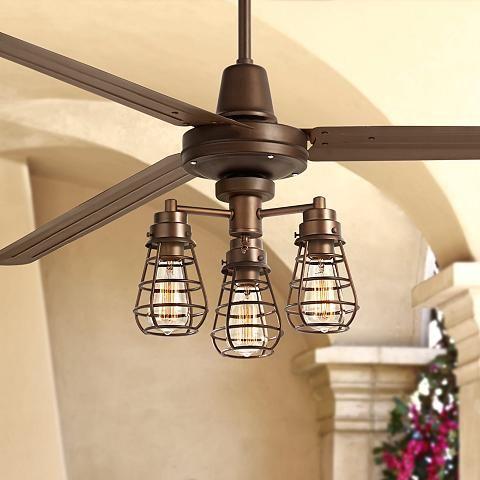 72 turbina xl bendlin cage oil rubbed bronze ceiling fan