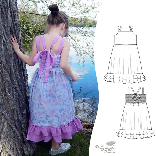 The Primrose Anne Dress by Pollywoggles is a beautiful sewing pattern with unique back strap details.