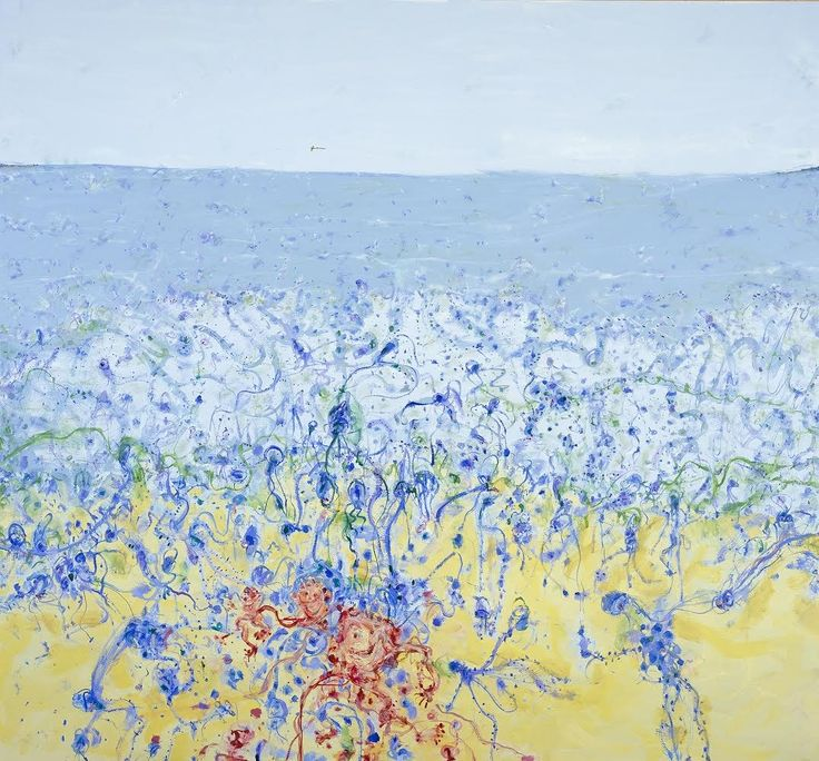 Popping blue bottles, 2007, by John Olsen