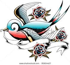 swallow with ribbon tattoo - Google Search