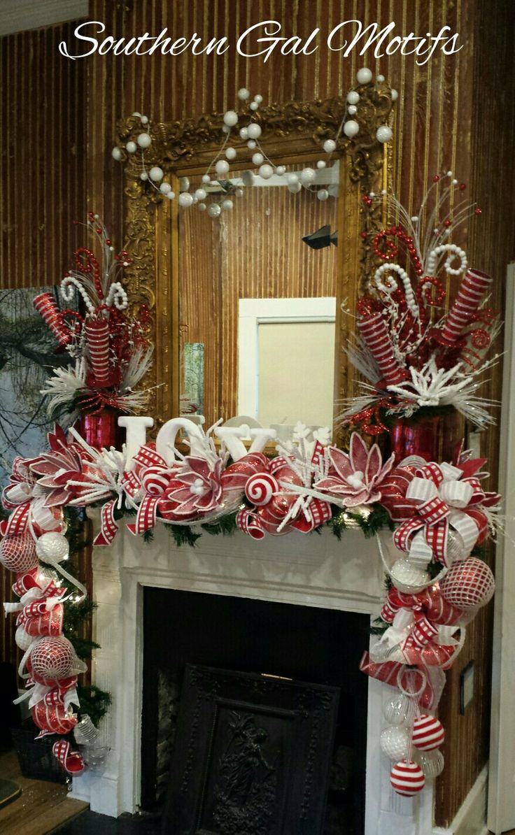 Whimisical Christmas Mantle Design By Southern Gal Motifs