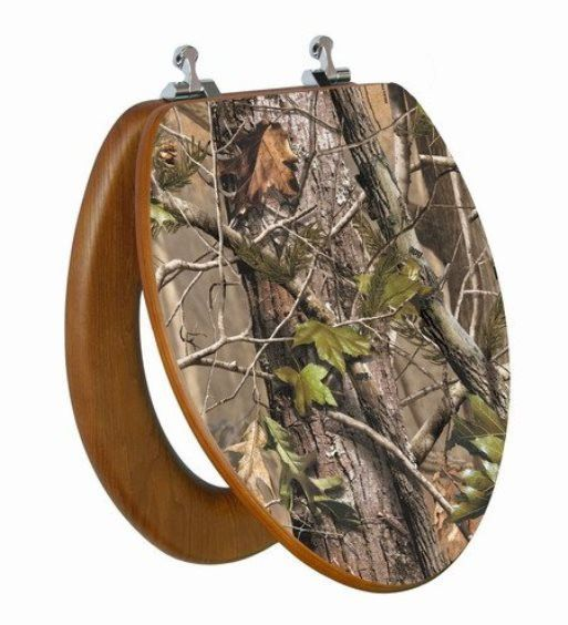 Camo Toilet Seat Cover Down Stairs Camp Camo