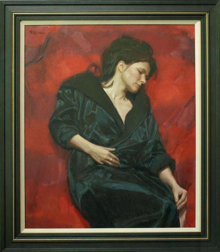 amazing painting of a very pretty lady by edinburgh artist ewan mcclure http://ewanmcclure.wordpress.com/