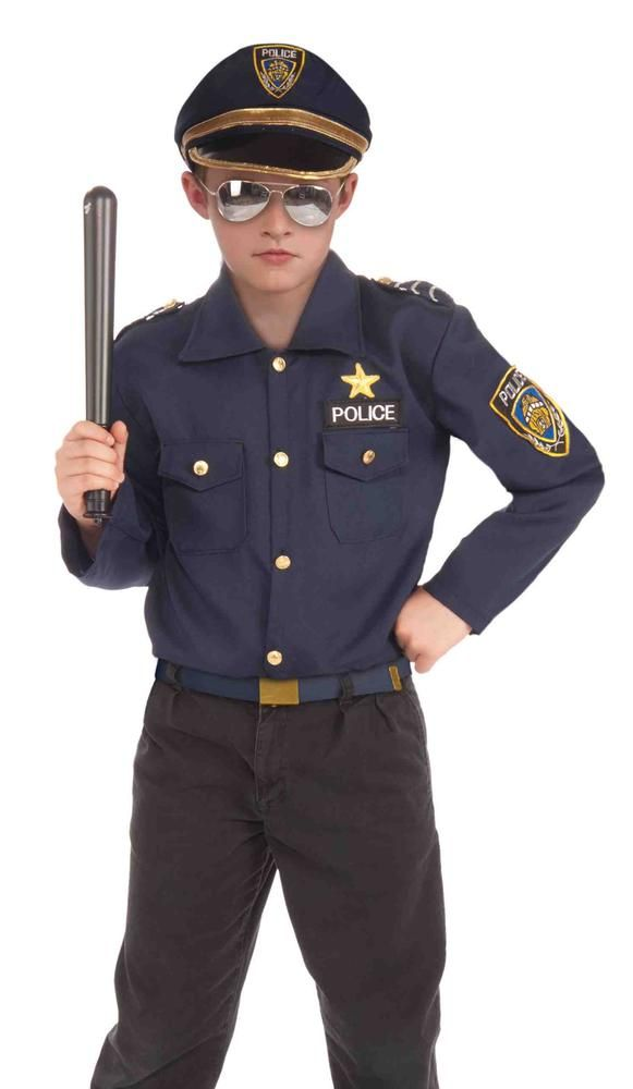 This #Halloween, your child will become a police officer instantly with our Instant Police #Costume Kit! The Instant Police Costume Kit includes a hat and shirt that make dressing up as a police officer quick, easy, and painless! #halloweencostumes , #BoysCostumes,#CostumeKit Other costume accessories and props (including the ones shown) are available and sold separately.