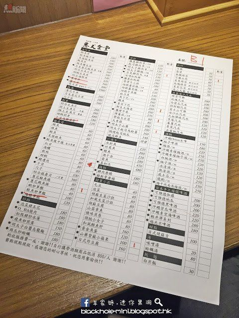 Izakaya menu - 【台北】深夜美味日式居酒屋:惡犬食堂 - 熱新聞 YesNews
