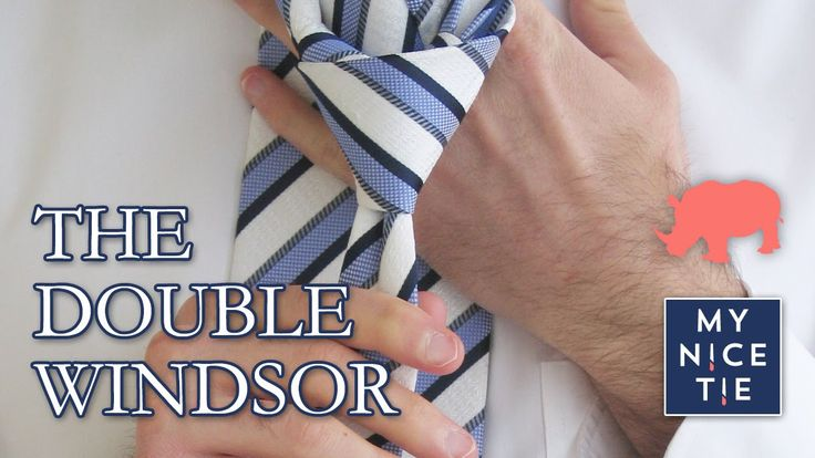 How to Tie a Tie: DOUBLE WINDSOR (slow=beginner)   How to Tie a Double W...