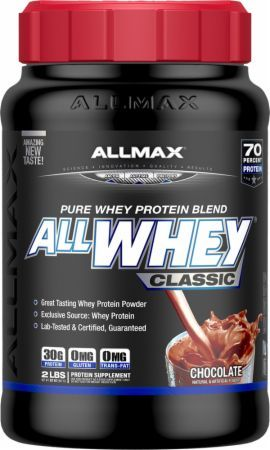 AllMax Nutrition AllWhey Classic Chocolate 2 Lbs. ALL4250064 Chocolate - 100% Whey Protein Designed To Support Muscle Growth